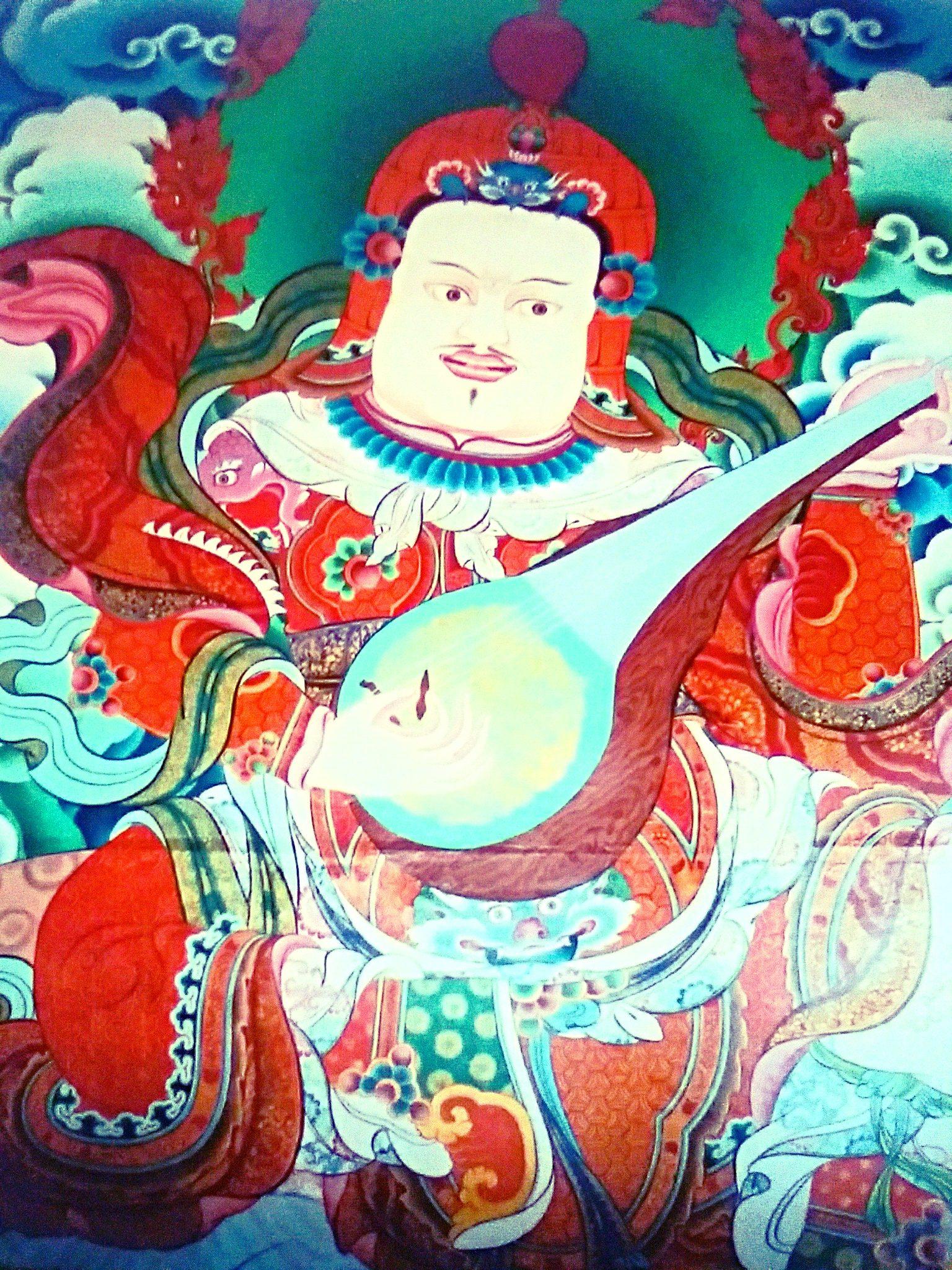 邪鬼を踏みつける怒れる四天王『チベットと日本の四天王図の大きな違いとは?』