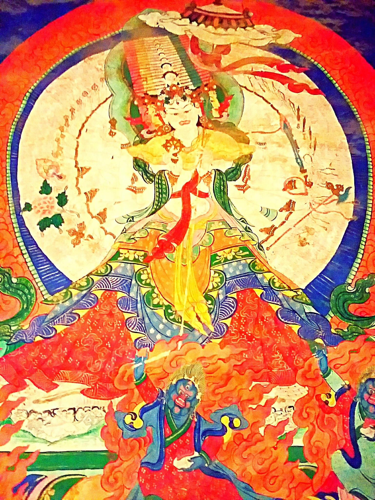 秘境チベットの手がいっぱいの仏達『千手観音・白傘概仏母・代威徳明王』