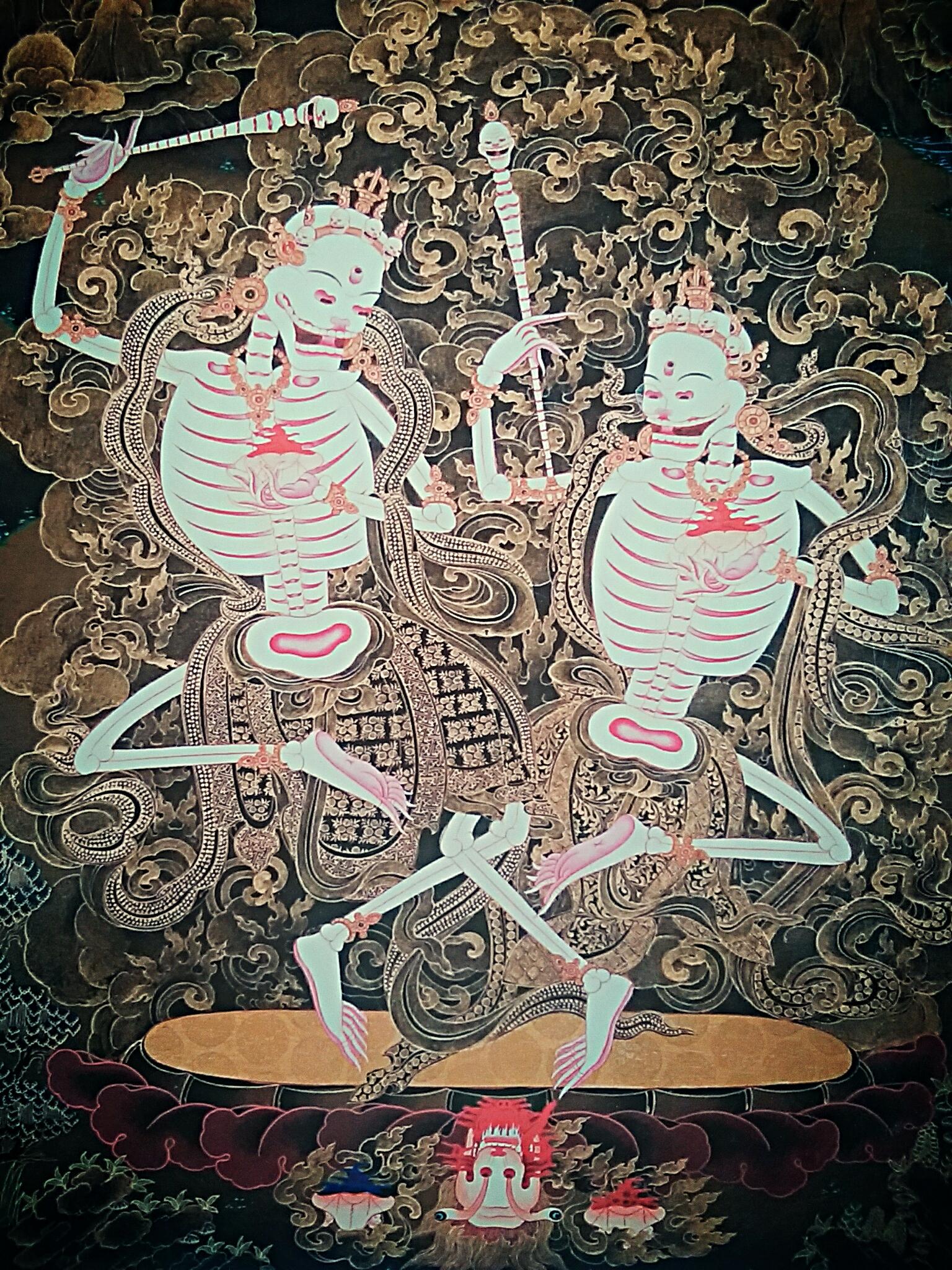 『チベット版がしゃどくろ』チティパティ(屍陀林王)と死の聖地巡礼