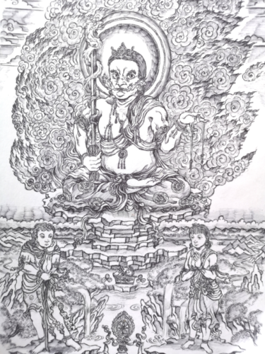不動明王の仏画の世界!名前の由来や持ち物を解説!