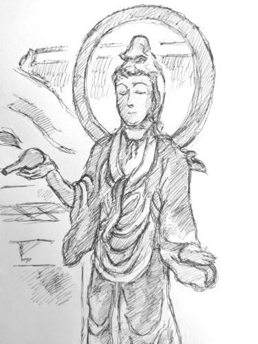 仏像スケッチをする際にガチで注意してほしい事と描き方を紹介
