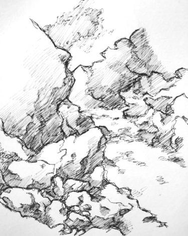 石・岩スケッチするため滝に行ってきた!描き方と注意点を紹介